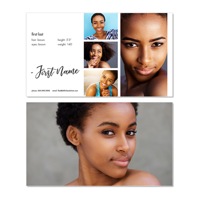 Headshot Business Card Style J