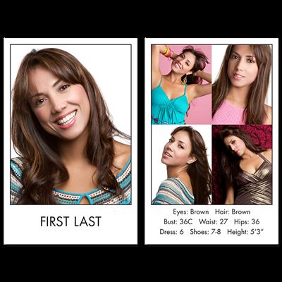 Headshot Comp Card Style A