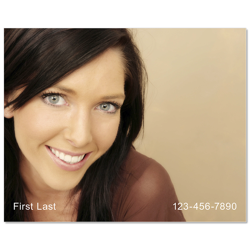 Headshot Style L - Name & Phone Number