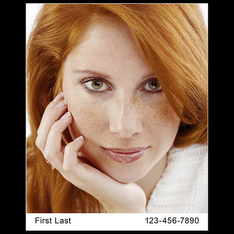 Headshot Style C - Name & Phone Number