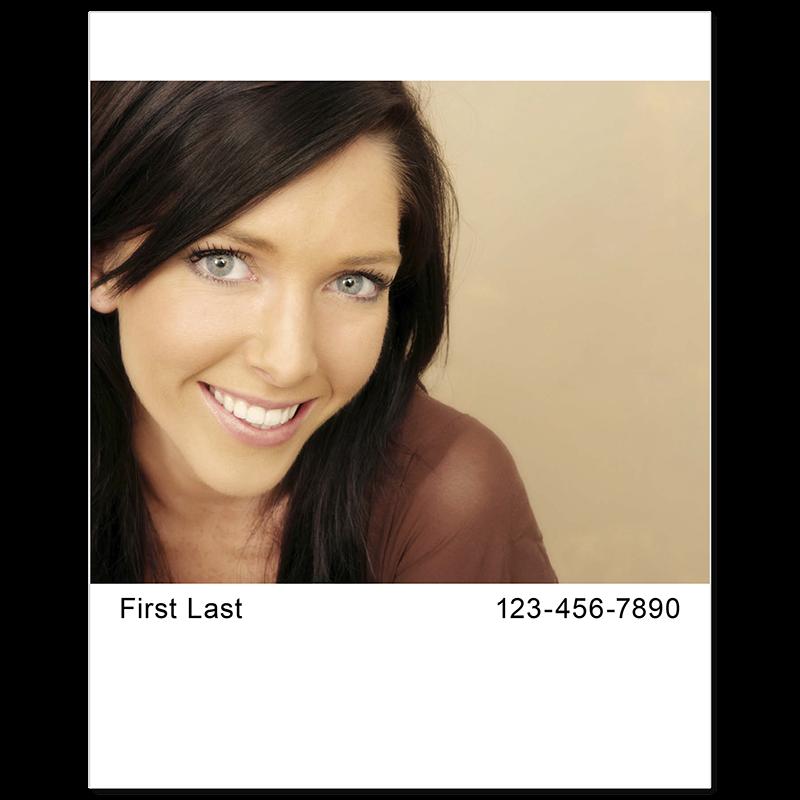 Headshot Style E - Name & Phone Number